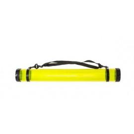 Тубус для паперу пластиковий прозорий жовтий 65х8.3 см D.K.ArtCraft, 94160655