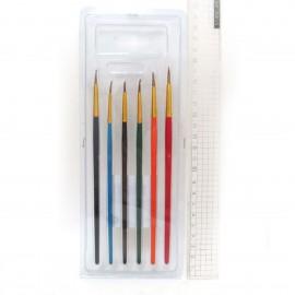 Набір кистей для малювання, круглих, поні № 1, 2, 3, 4, 5, 6 Josef Otten, JO-1969-6, 130561