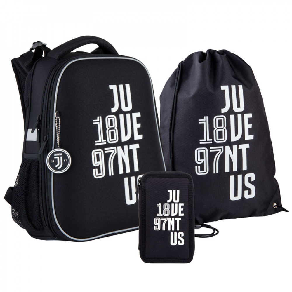 Рюкзак з наповненням пенал сумка для взуття Kite FC Juventus SET_JV21-531M, 48340