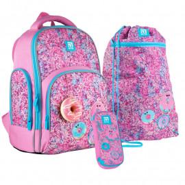 Рюкзак з наповненням пенал сумка для взуття Kite Donuts SET_K21-706M-2, 48367