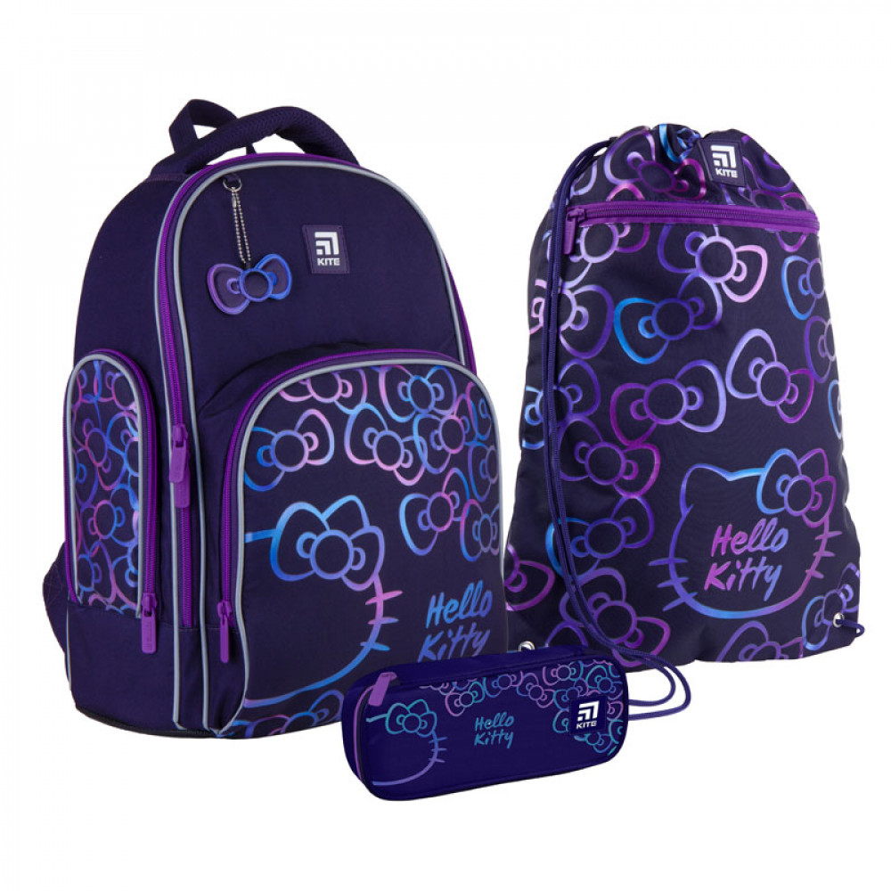 Рюкзак шкільний з пеналом сумкою для взуття Kite Hello Kitty SET_HK21-706M, 48364