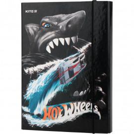Папка В5 для зошитів на гумці картонна Kite Hot Wheels HW19-210, 40916