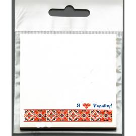 Бумага для заметок, с клейким слоем, Вышиванка красная, 67*74 мм, 30 листов, Атлас, Р-0100, 904395