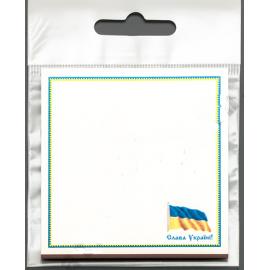 Бумага для заметок, с клейким слоем, Флаг Украины, 67*74 мм, 30 листов, Атлас, Р-0101, 904401