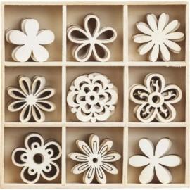 Набір міні-заготовок Квіти 10,5х10,5 см 45 штук Knorr Prandell, 2118521103