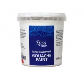 Фарба гуашева білила титанові 500 мл Rosa Studio, 3250901
