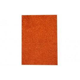 Фоаміран помаранчевий з глітером 2 мм 20x30 см Eva foam ООПТ 7940, 115467