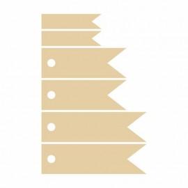 Набір вирубок Прапорець, картон, 6 шт, ROSA Talant, 4801478