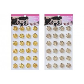 Наліпки стрази металік, троянди золото та срібло  ООПТ 8566, 119120