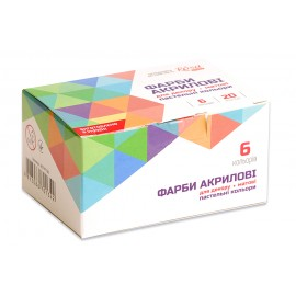Набір акрилових фарб для декору матовий 6 пастельних кольорів по 20 мл Rosa Talent, 90747130