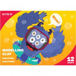 Пластилін восковий Kite Jolliers 12 кольорів 240 грам K20-1086, 44119