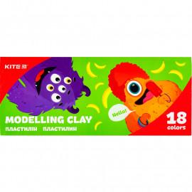 Пластилін восковий Kite Jolliers 18 кольорів 360 грам K20-085, 42688