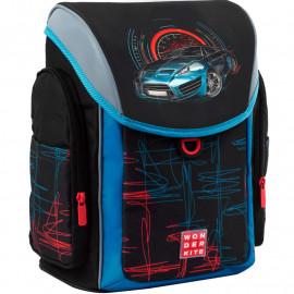 Рюкзак шкільний з пеналом та сумкою для взуття Wonder Kite Racing SET_WK21-583S-4, 48435
