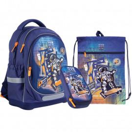 Рюкзак з наповненням пенал сумка для взуття Kite Wonder Space Skating SET_WK21-724S-2, 48293