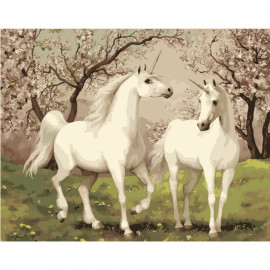 Картина за номерами Пара єдинорогів 40х50 см Ідейка КНО2431, 301820