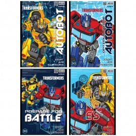 Альбом для малювання А4 Kite Transformers 30 аркушів спіраль TF20-243, 45549