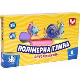 Набір полімерної глини з флуоресцентна Школярик 6 кольорів по 20 грам, 88216219