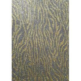 Фоаміран А4 20x30 см з глітером принт тигровий золото на сірому ООПТ 10514, 161525