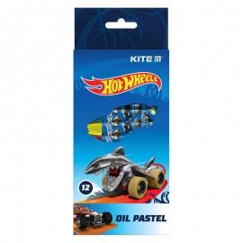 Пастелі олійні Kite Hot Wheels 12 кольорів HW21-071, 47400