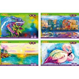 Альбом для малювання клеєний А4 40 аркушів 120 г/м2 Zibi, ZB.1460, 946690