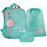 Рюкзак з наповненням пенал сумка для взуття Kite Super star SET_К21-531M-4, 48348