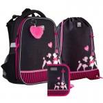 Рюкзак з наповненням пенал сумка для взуття Kite Weekend in Paris SET_К21-531M-3, 48347