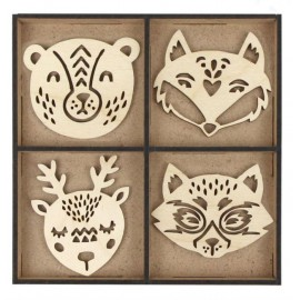 Набір заготовок Лісові звірі 12 штук фанера Rosa Talent, 4801728