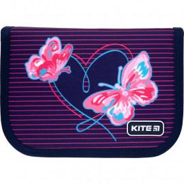 Пенал  Kite Education Butterflies K21-622-3 1 відділення 2 відворота, 47294