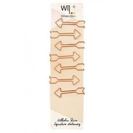 Скріпки фігурні 50 мм у формі стрілки 7 шт. колір рожеве золото Wilhelm Büro WB-212, 5002127
