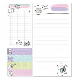 Блок паперу з клейким шаром Kite Cats K21-299-2, 48584