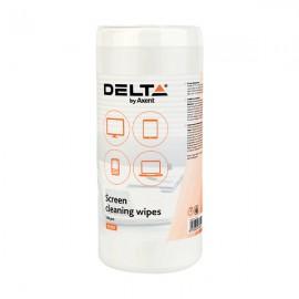 Серветки по догляду за екранами вологі Delta by Axent 100 штук, D5302, 32967