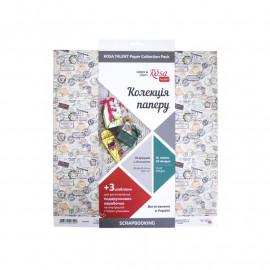 Набір паперу для скрапбукінгу Make your journey 30,5х30,5 см 16 аркушів Rosa Talent, 5312004