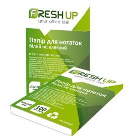 Блок бумаги для записей белый не клеенный, 145*100 мм, 100 листов, Fresh Up, FR-145100, 100708