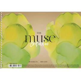 Альбом для ескізів А4 50 аркушів спіраль 100 г/м2 Muse Школярик, 224641