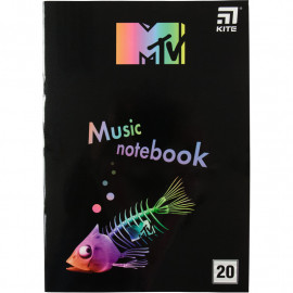 Зошит для нот А4 Kite MTV 20 аркушів MTV20-404-2, 45100