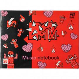 Зошит для нот А5 Kite MTV 20 аркушів MTV20-405-2, 45102