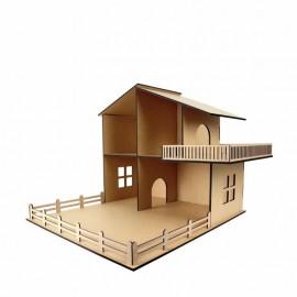 Ляльковий будиночок Rosa Talent двоповерховий з терасою Техас 46х52х60 см МДФ, 2873021
