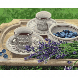 Картина за номерами Лавандовий сніданок 40х50 см Ідейка КНО5600, 323389