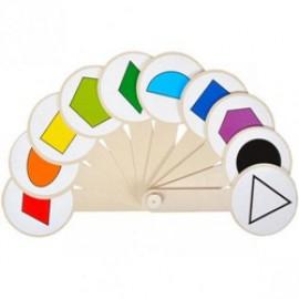 Веер, цвета, геометрические фигуры, Атлас, К-5375, 900496