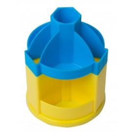 Подставка-вертушка канцелярская 10 отделений Ukraine сине-желтая Zibi, ZB.3019-0208, 929952
