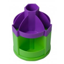 Подставка-вертушка канцелярская 10 отделений Fresh фиолетово-салатовая Zibi, ZB.3019-0715, 929938