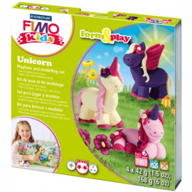 Набір полімерної глини Fimo Kids Unicorn 4 кольори по 42 грама Staedtler, 803419