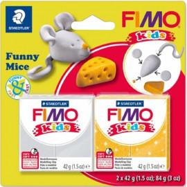 Набір полімерної глини Fimo Kids Веселе мишеня 2 кольори по 42 грама Staedtler, 803511