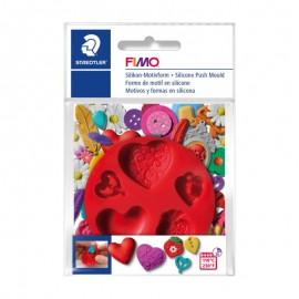 Силіконова прес-форма для полімерної глини Fimo серця діаметр 7 см Staedtler, 872523