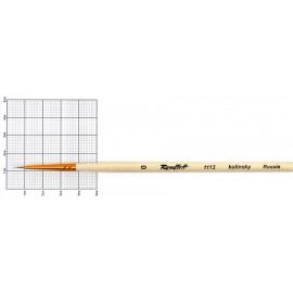 Пензель колонок круглий № 0 довга ручка Roubloff 1112, 9409900