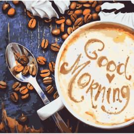 Картина за номерами Good Morning 40х40 см Ідейка КНО5523, 947286