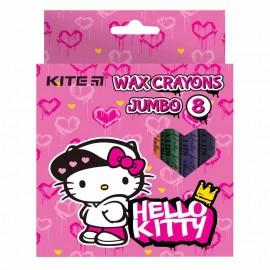Олівці воскові Jumbo Kite Hello Kitty 8 кольорів НК21-076, 47390