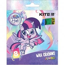 Олівці воскові Jumbo Kite My Little Pony 8 кольорів LP21-076, 47389