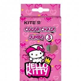Крейда кольорова Jumbo Kite Hello Kitty 3 кольори HK21-077, 47376