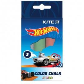 Крейда кольорова Jumbo Kite Hot Wheels 3 кольори HW21-077, 47375